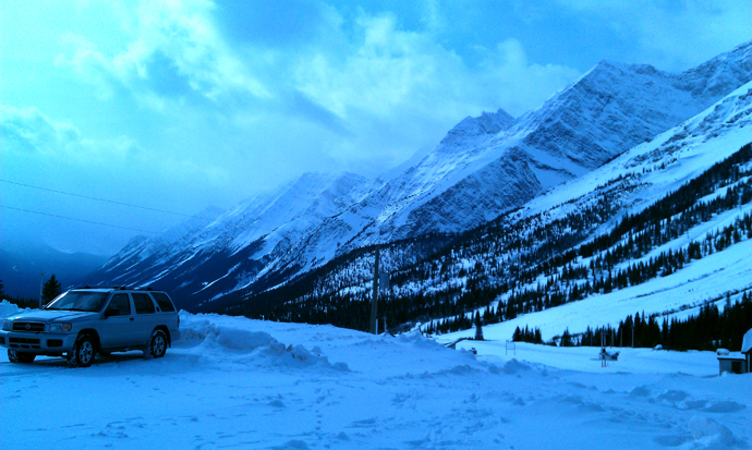 הר פורטרס, איזור החניה. כמו כל התמונות מהסלולרי שלי, כחול משהו.