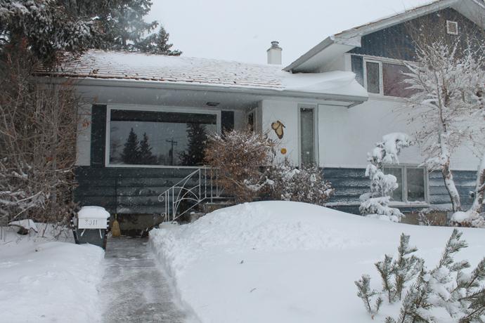 הבית שלנו בחורף