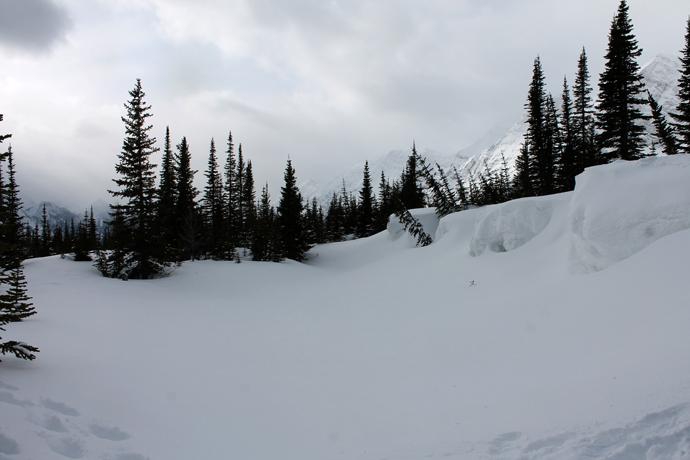 שטח הפעילות, לפני שהתחלנו לחרב את השלג הבתולי למראה עם אתים