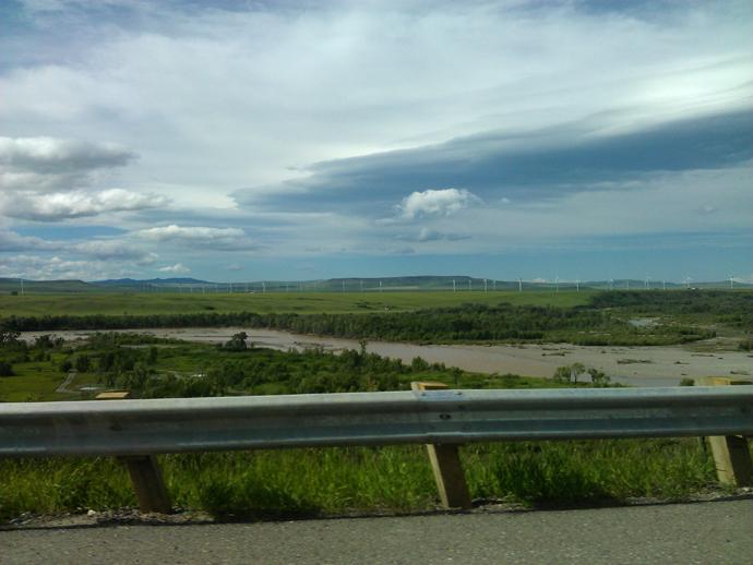 מי שטפון מעכירים את הנהר, בדרך דרומה
