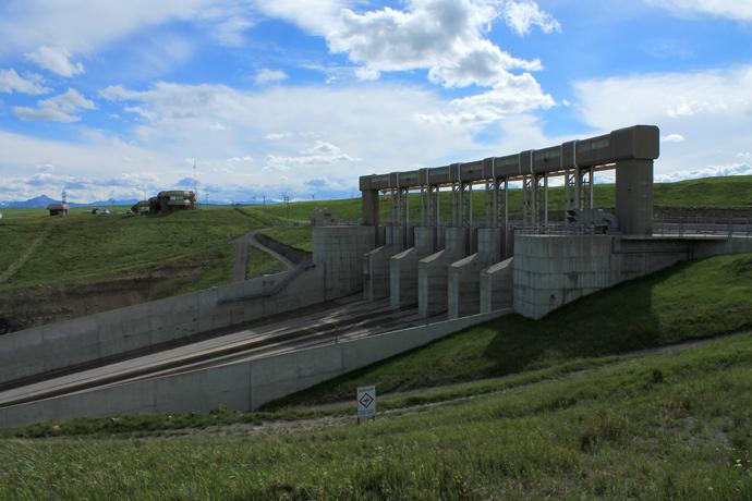 שסתום הלחץ של הסכר על נהר האולדמן