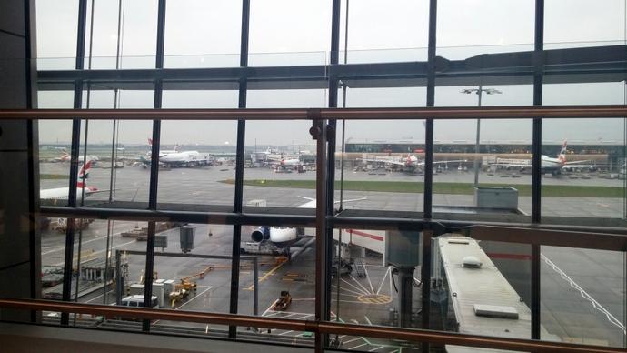 הנוף מהחלון בהיתרו. גשום כמובן.