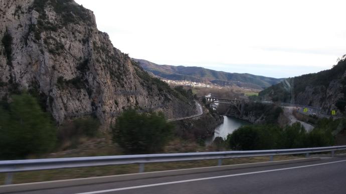 הדרך מברצלונה לאנדורה יפה, אם כי היה קצת מלחיץ לראות שאין שום שלג בסביבה